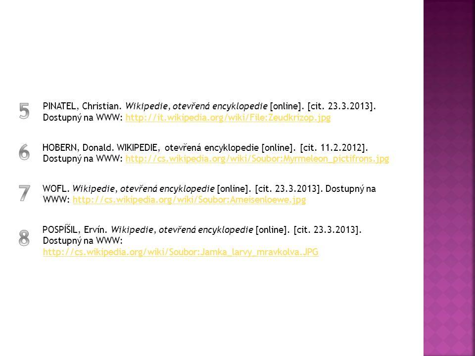 PINATEL, Christian. Wikipedie, otevřená encyklopedie [online]. [cit. 23.3.2013]. Dostupný na WWW: http://it.wikipedia.org/wiki/File:Zeudkrizop.jpg
